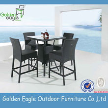 New Style Outdoor rattan bar table and bar chair set