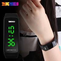2017 China Supplier Delicate Bracelet Promotional Led Watch Silicone Waterproof Watch Women Wholesale Bulk From SKMEI