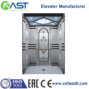 Residential Passenger Lift stainless steel machine roomless