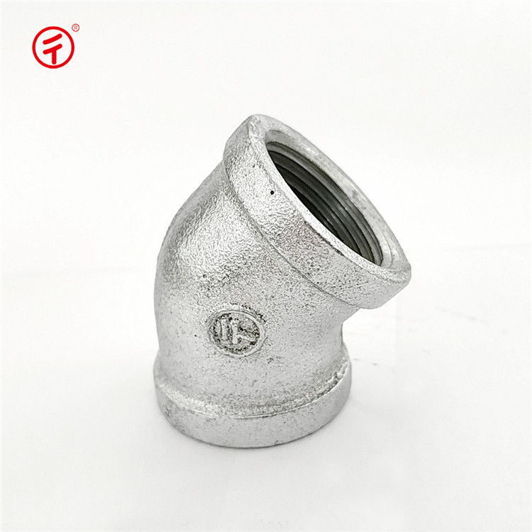 120 bs standard gi grooved malleable iron pipe fitting 45 degree equal elbow