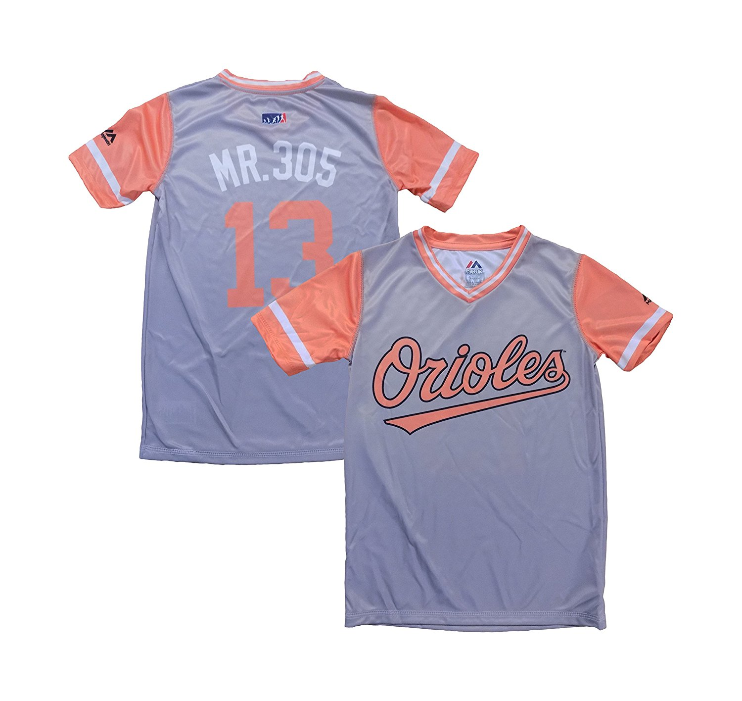 c747906c4da Get Quotations · OuterStuff Manny Machado Baltimore Orioles Gray Orange  Youth Nickname Player Weekend Jersey