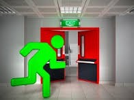 EN60598-2-22 led rechargeable emergency light double sided led exit sign