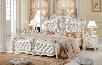 royal style solid wood twin bed in pure white