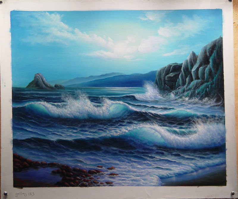 famous ocean wave oil paintings buy ocean wave oil paintings