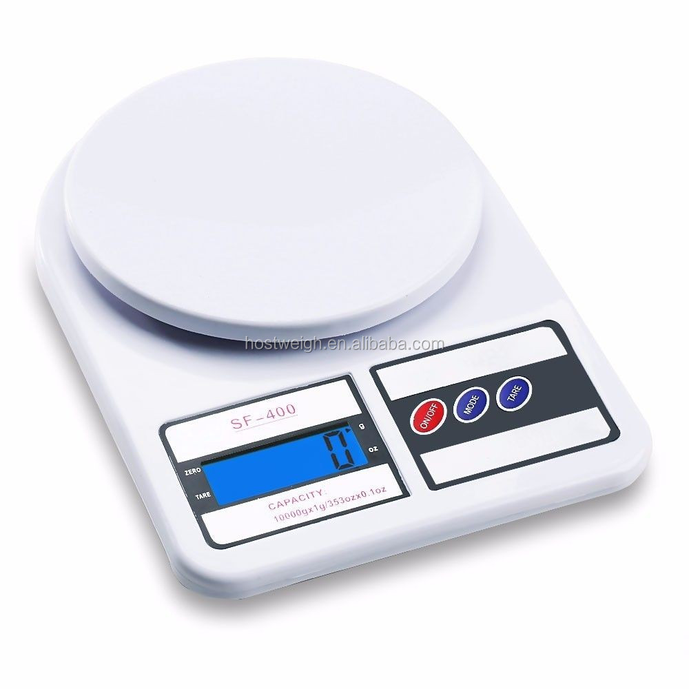 d10kg/1g Digital LCD Electronic Kitchen Scale Food Weighing Postal Scales White
