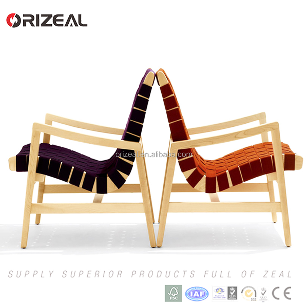 Replica Jens Risom home furniture bandage covered Risom lounge chairs