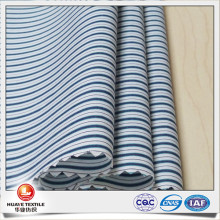 navy blue and white stripe cotton fabric for casual shirt