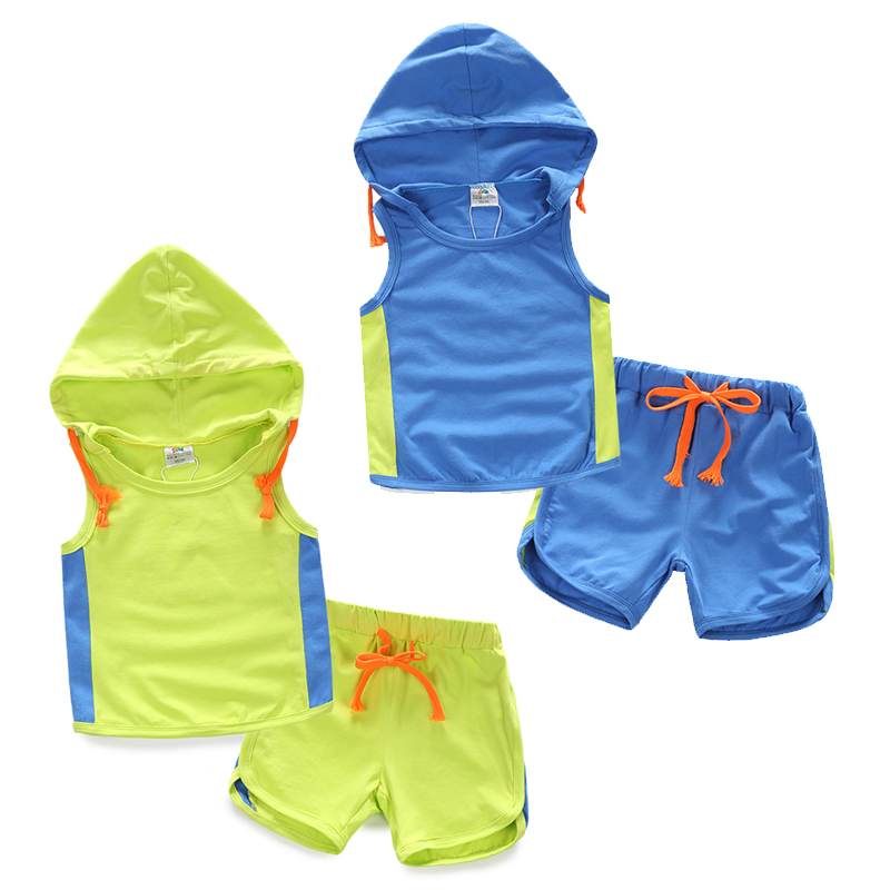 Kids Clothes Real Clothes Wholesale Free Shipping The Baby Hooded Suit 2015 Summer Style New Girl Childrens Kids Pants Tz-2138