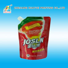 Good Quality Cheap Household Detergent Spout Pouches,Detergent Washing Packaging Bag,Washing Powder Packaging Film