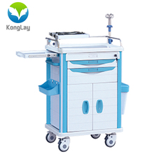 High quality medical cart with drawer surgery room hospital emergency trolleys