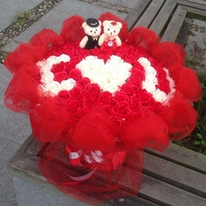 Valentines Day Wedding Decorations Soap Roses Flower Petal Gift