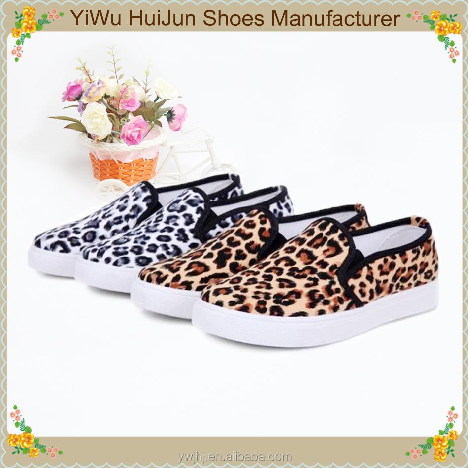 Vietnam Shoes Leopard Fashion Ladies Stock Lot Shoes