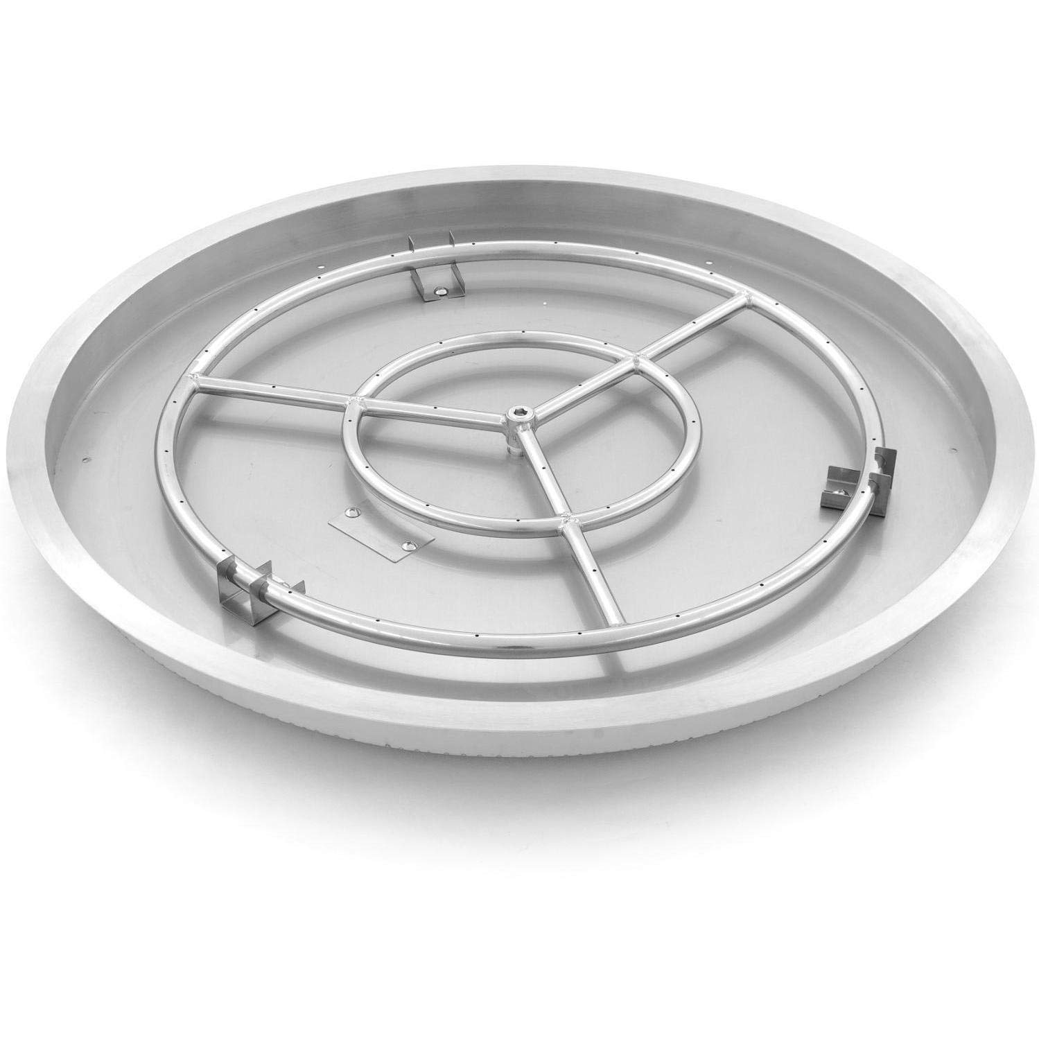 Lakeview Outdoor Designs 31-inch Round Drop-in Pan with 24-inch Natural Gas Ring Burner