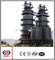 vertical cement clinker kiln with fire brick