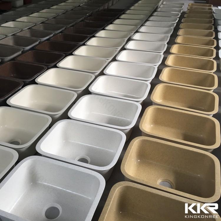 Superficie solida lavelli da cucina resina acrilica di pietra lavello della cucina dispersore - Lavello cucina resina ...