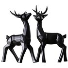couples deer figurine ceramic home decor european style fashion art