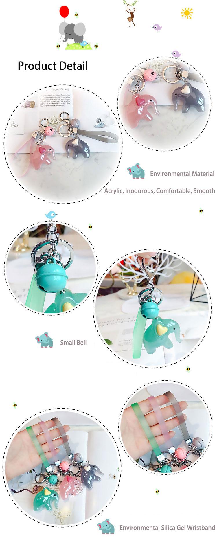 Custom shape anime elephant acrylic keychain