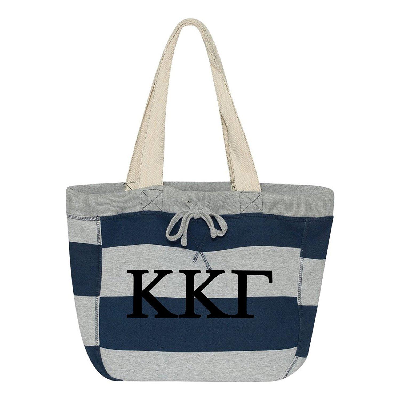 Kappa Kappa Gamma Striped Beachcomber Tote Bag