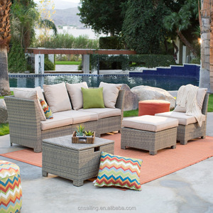 Factory Direct Wholesale Popular Outdoor Waterproof Used Lowes Rattan Patio Furniture
