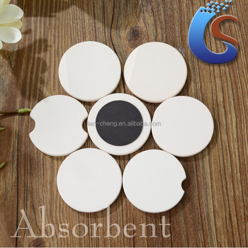 Absorbent Blank White Ceramic Car Coaster And Magnet Buy Absorbent Car Coaster Car Coaster