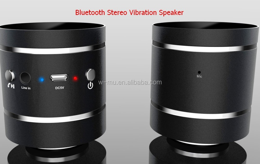 Bluetooth Vibration Speaker, 10 watts Bluetooth Resonance Speaker Surface