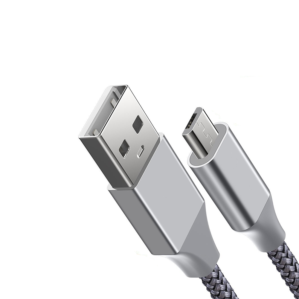 1M High Quality Nylon Braided USB Cable for Micro Android Phone фото