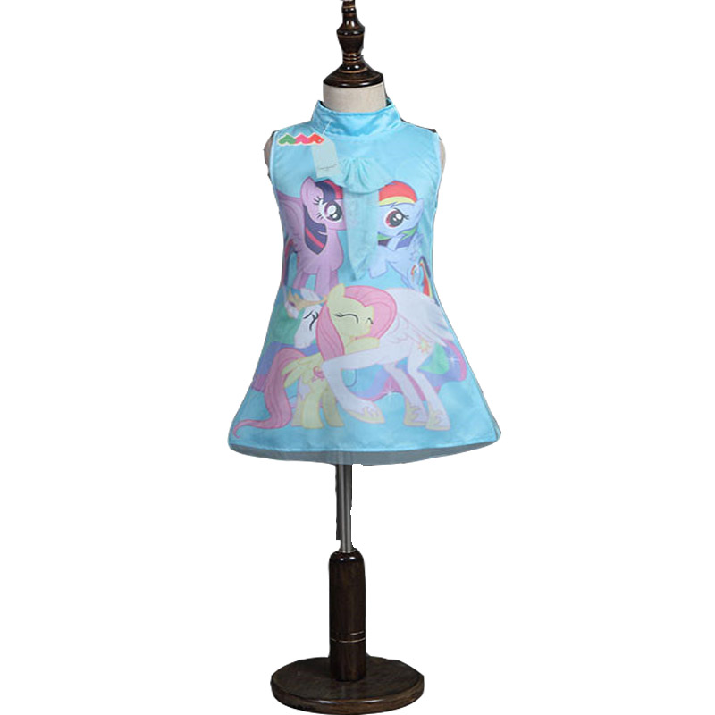 2016 My Girls Little Pony Dress Summer Brand Toddler Girls Clothes Lace Sequins Princess little pony