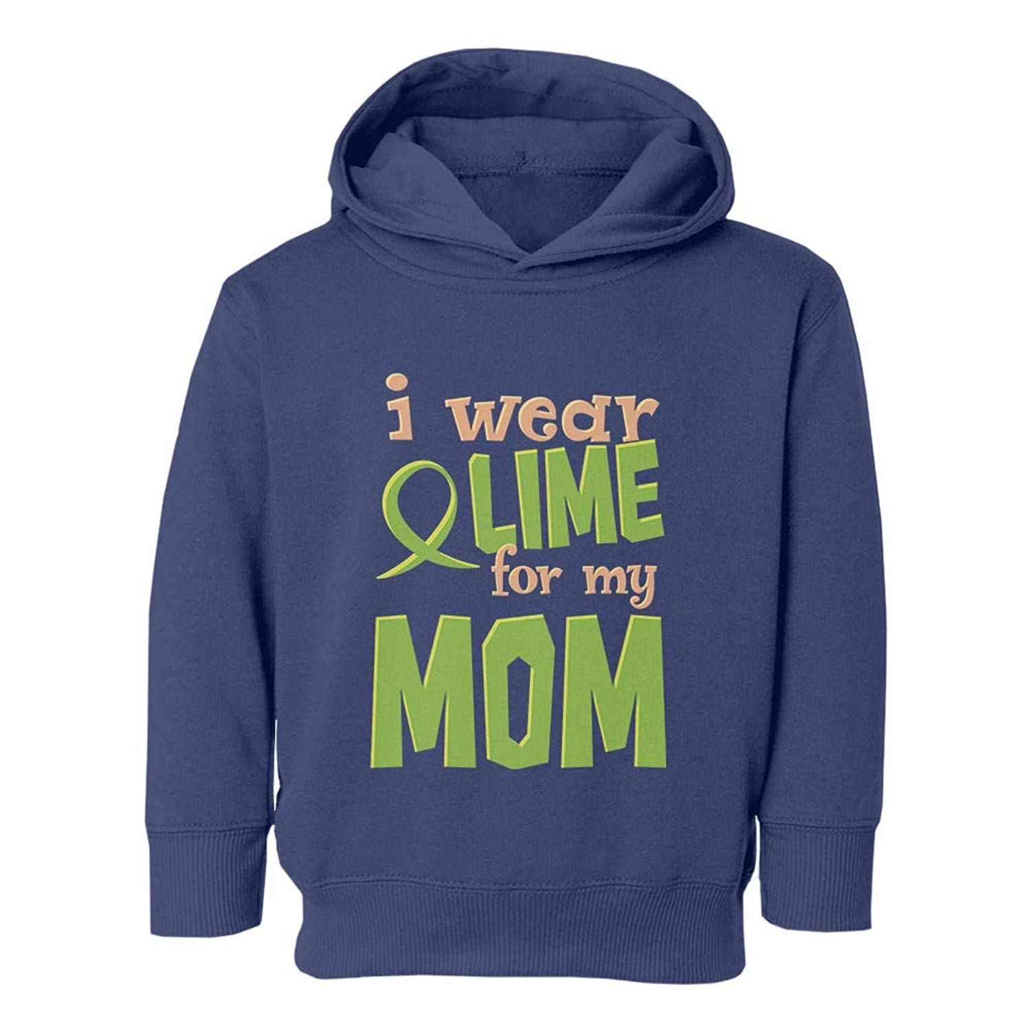58231481c37 Get Quotations · Societee Support Wear Lime My Mom Graphic Youth   Toddler  Hoodie Sweatshirt