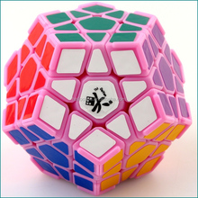 Megaminx Pink with corner ridges Dodecahedron DaYan Brand Plastic Cube Puzzle Educational Toys for kids