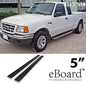 STEELCRAFT 211507 Compatible with 98-11 FORD RANGER//RANGEREDGE//MAZDA B SERIES SUPER CAB 2DR 3 SIDEBARS Stainless Steel Side Step Nerf Bar Running Board