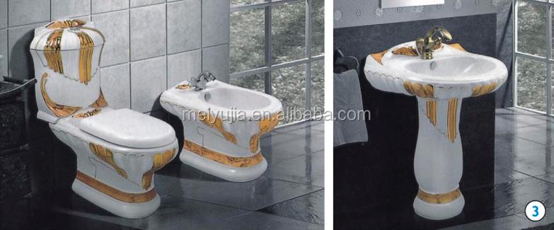 Nuovo design nero colore sanitari set bagno con wc ciotola - Set sanitari bagno ...
