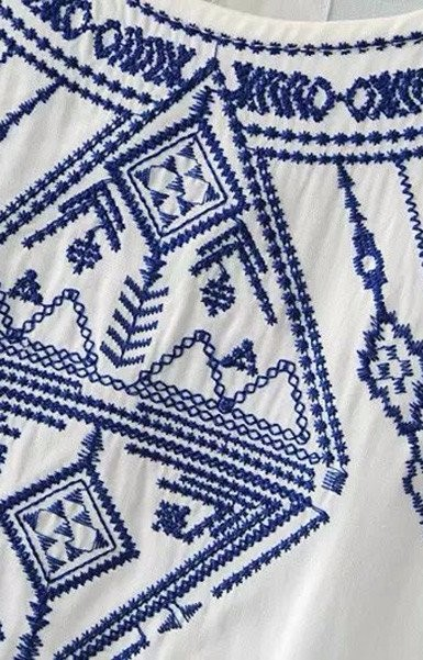 O neck sleeveless designs ladies tops women embroidered