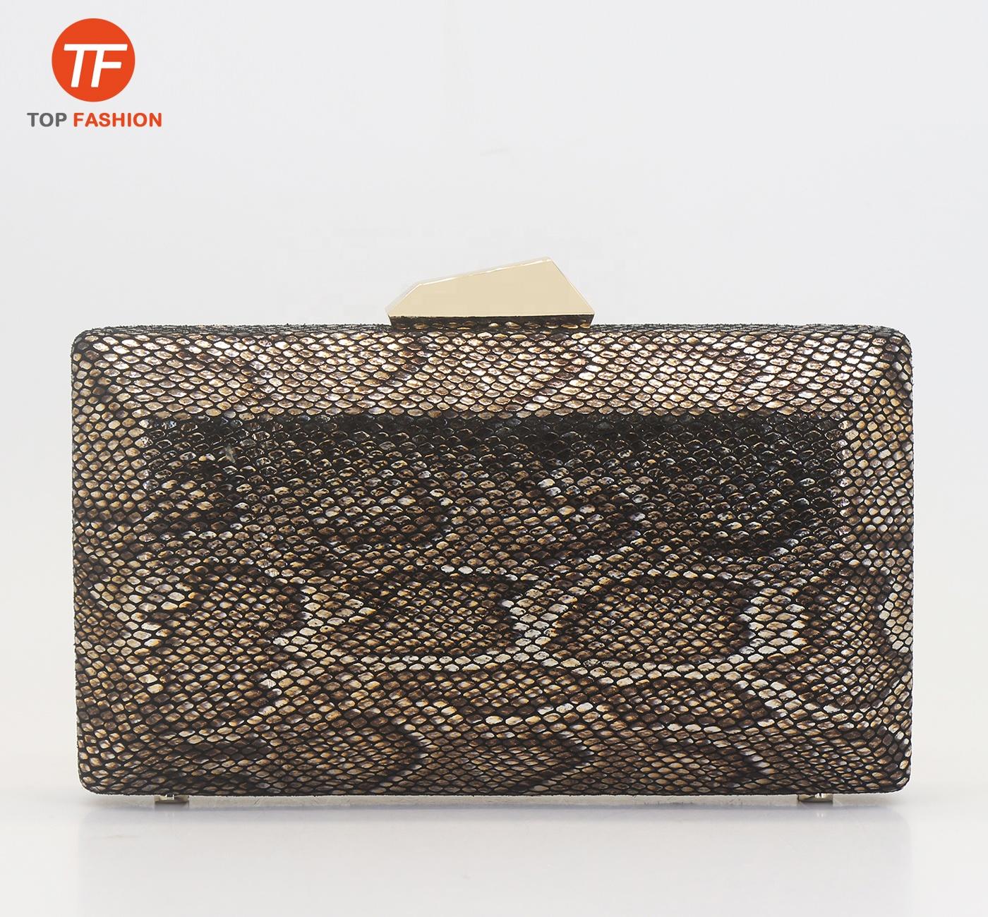 4585eec45adc 2019 Новый оловянный питон шаблон из натуральной кожи коробка для женщин  клатч вечерняя сумочка оптовая продажа