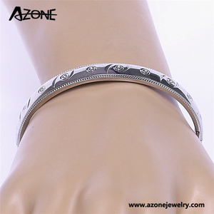 Indian baby bangles stainless steel engraved lac bangles