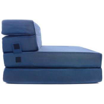 f1c741bd764 Tri-Fold de espuma de colchón plegable y sofá cama para los huéspedes ...