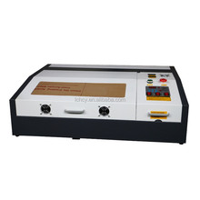 acrylic wood rubber paper engraving and cutting machine laser cutter 50W 400*400mm working area USB port