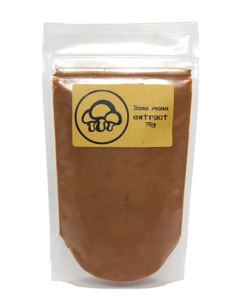 Lion's Mane Extract Powder by Appropriated Cultures - Organic, Fruiting Body Lion's Mane Extract - 75g bulk powder
