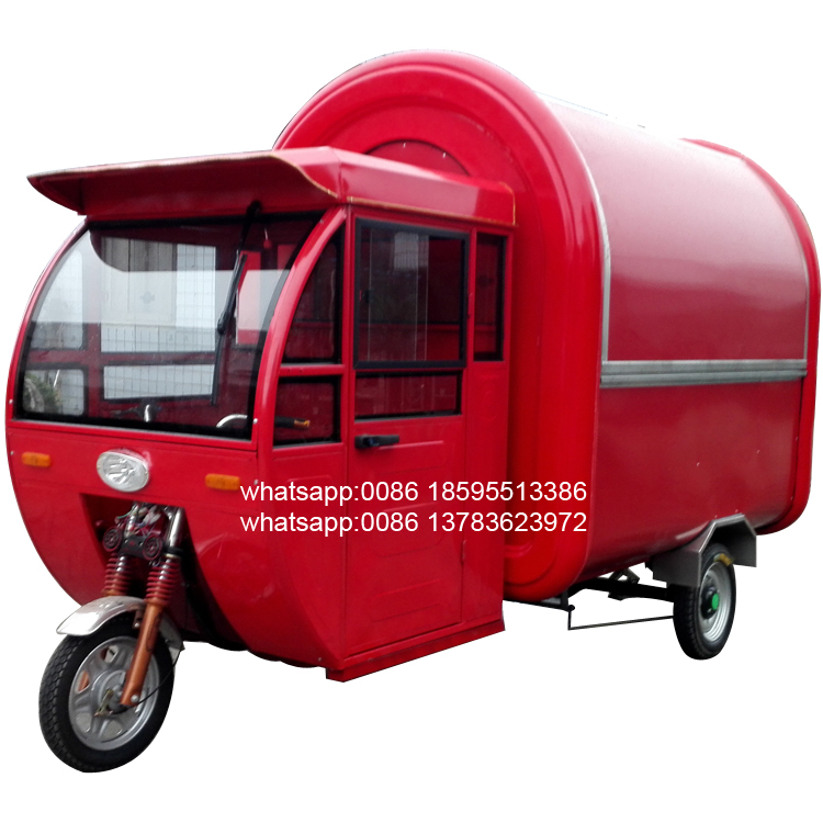food truck / ELECTRICAL TRICYCLE ice cream machine / donut japanese momo food vending carts for sale with BIG WHEEL
