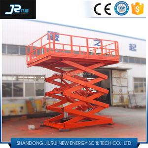 Adjustable hydraulic stationary warehouse mechanical scissor lift