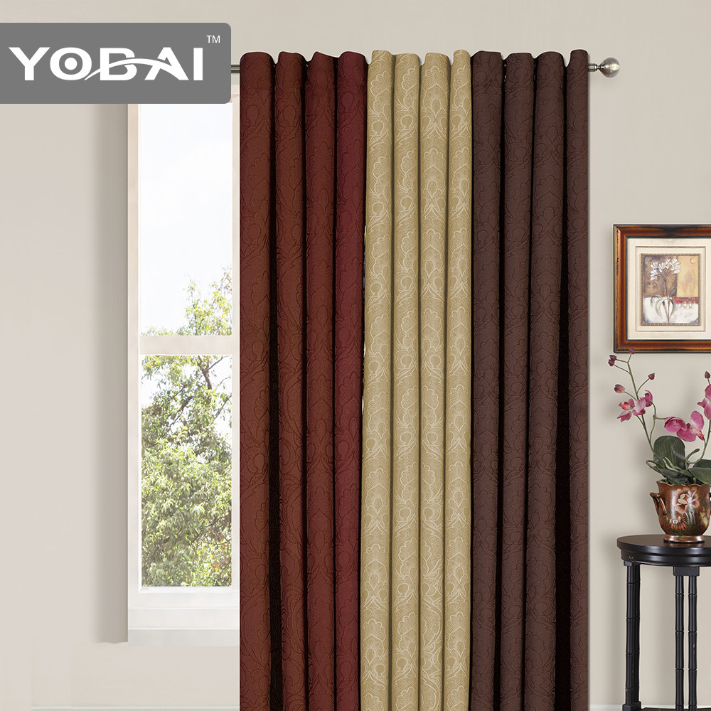 New Design Hotel Brand Name Korean Style Jacquard Window Curtain