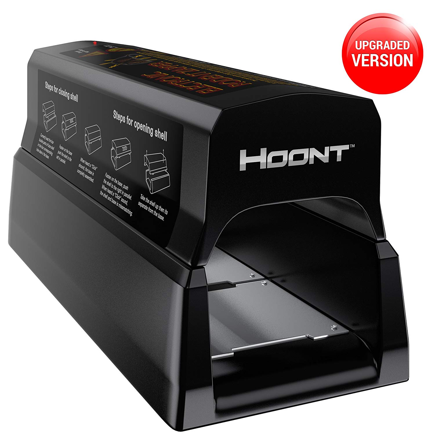 Hoont Powerful Electronic Rodent Trap - Clean and Humane Extermination of Rats, Mice and Squirrels [UPGRADED VERSION]