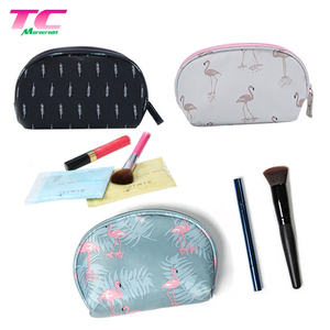 Small Flamingo Theme Nylon Makeup Pouch Toilet Bags Portable Colorful Travel Beauty Kit Bag