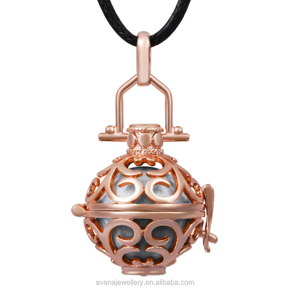 Rose Gold Cage Harmony Balls Hollow Angel Callers with Chime Ball for Angel Baby Pregnancy Mexican Bola H047