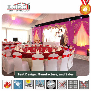 100% rain water proof powdered alum tent for wedding tent