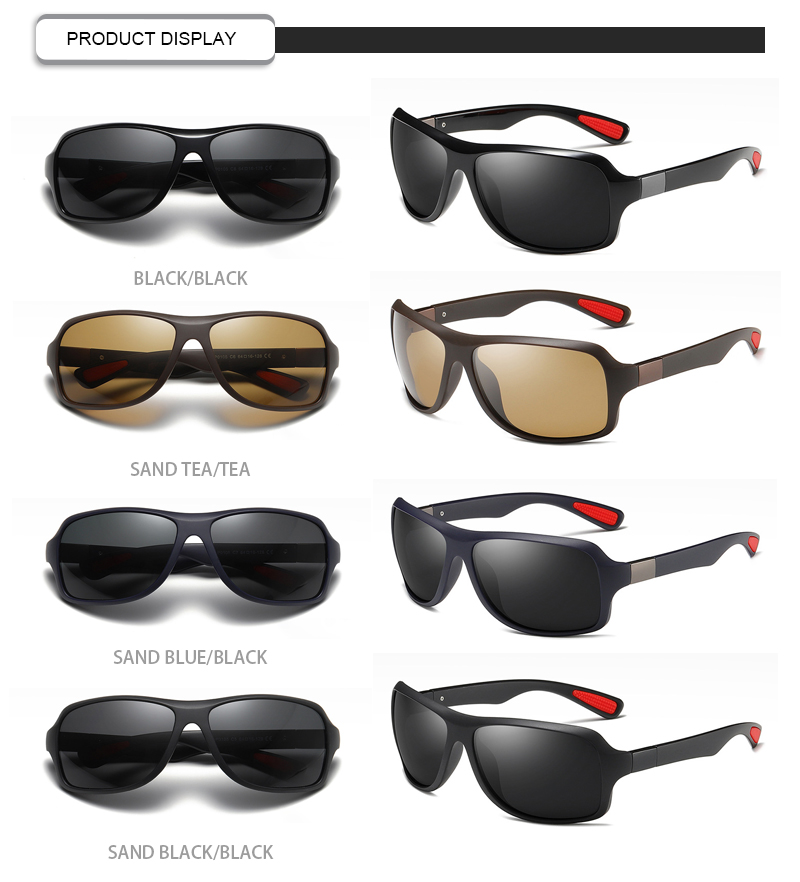 Fuqian polarized black flys sunglasses customized for running-13