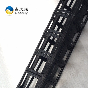 55000D High Density Long Yarn PET fiber geogrid