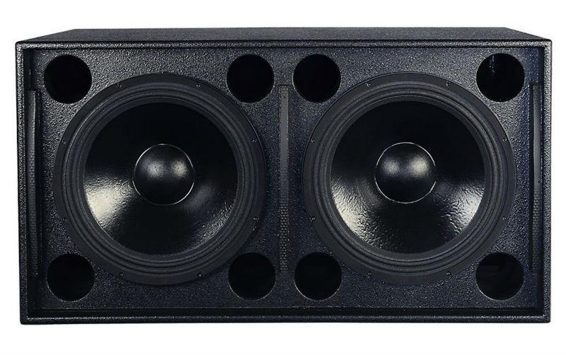 1200W Dj Bass Speaker Dual 18 Inch Subwoofer Box Design