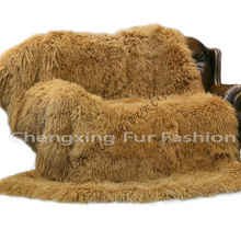 CX-D-23D 2016 New Winter Genuine Mongolian Lamb Fur Blanket Fur Rugs