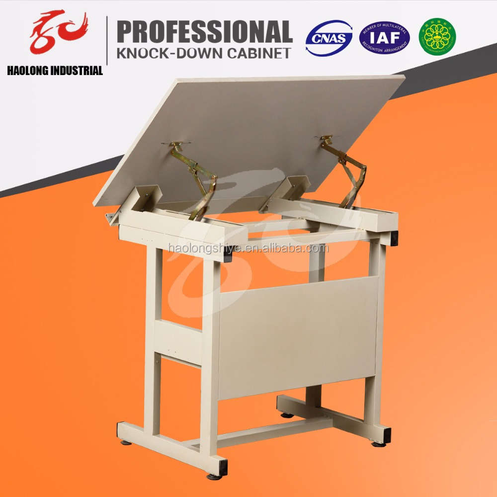 Modern height adjustable drafting drawing table design