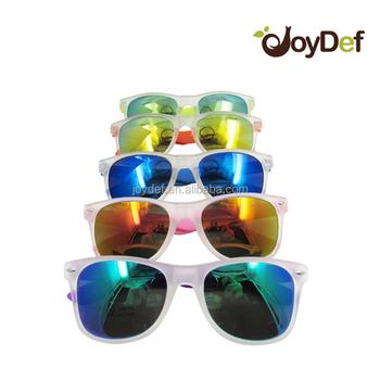 40cba98451 Matte frame Sunglasses rubber finished glasses two tone neon color mirror  lens glasses UV400